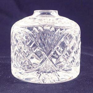 Tyrone crystal very heavy vase signed etched EUC